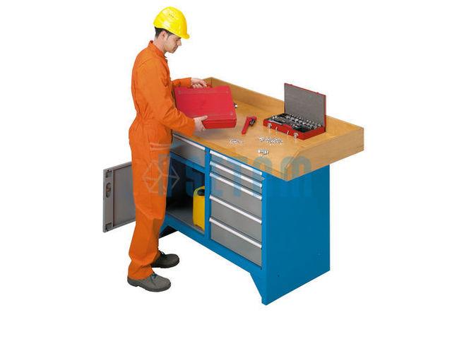Etabli professionnel plateau bois avec tiroirs 1m50 de for Assurance garage professionnel