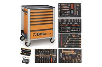Servante mobile d'atelier 7 tiroirs BETA C24S/7 + compo 329 outils - Orange