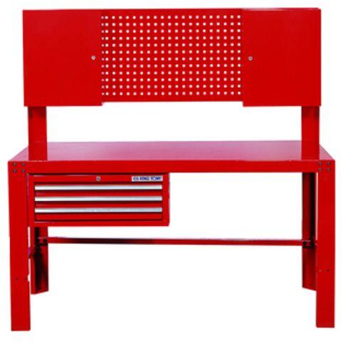 etabli d 39 atelier avec tiroirs panneau perfor armoires 87502 de king tony france. Black Bedroom Furniture Sets. Home Design Ideas