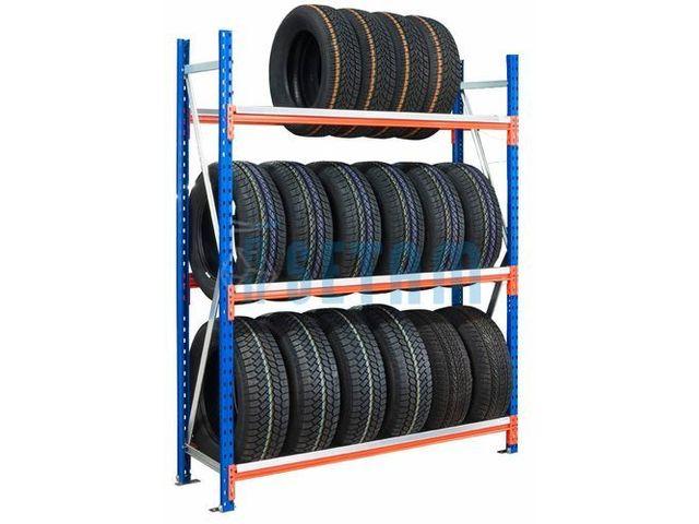 rack pneus 3 niveaux l 185 cm de setam rayonnage et mobilier professionnel   informations et