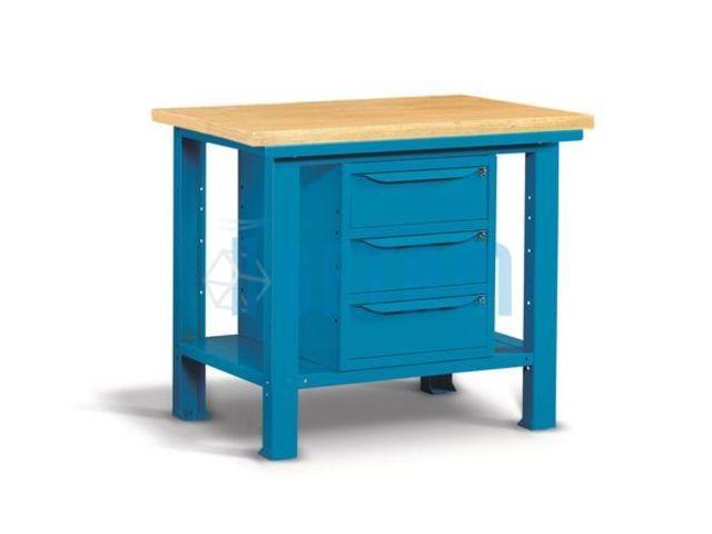 Etabli d 39 atelier plateau bois et 3 tiroirs 1m de setam for Assurance garage professionnel