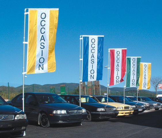 M t drapeau gamme de apa france plv auto fabricant for Plv garage automobile