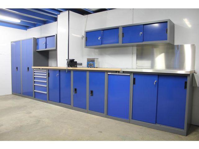 Agencement d 39 atelier et de garage couleur bleu trm for Garage auto mecano buc