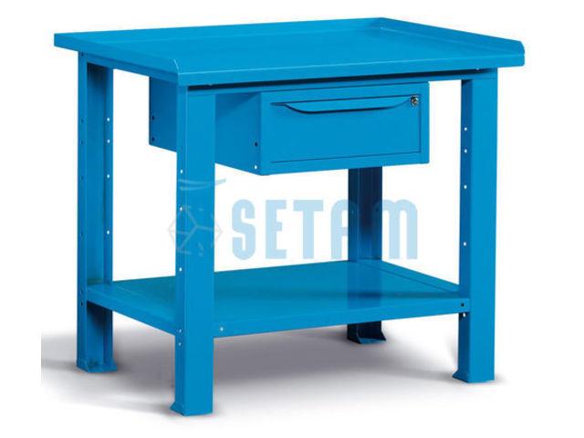 Etabli professionnel m tallique avec tiroir 1m de setam for Assurance garage professionnel