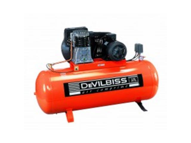 Compresseur 270 litres 5 5cv devilbiss de gobillot for Compresseur garage automobile