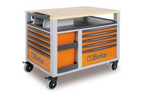 Etabli mobile SuperTrank - 10 tiroirs BETA C28 - orange