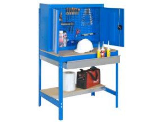 Etabli atelier avec armoire m tallique et tiroir de for Armoire de rangement avec tiroir