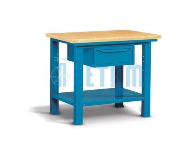 Etabli pro plateau bois et tiroir 1m de setam rayonnage et for Mobilier professionnel