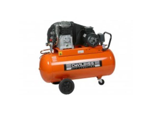 Compresseur 100 litres 3cv marche lente devilbiss de for Compresseur garage automobile
