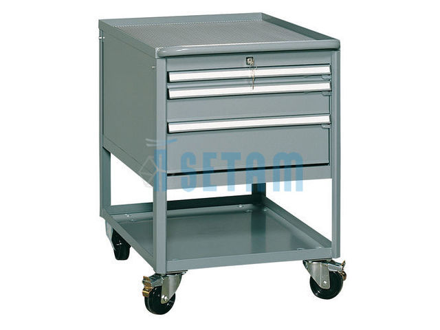 Servante atelier industrielle 3 tiroirs de setam rayonnage for Assurance garage professionnel