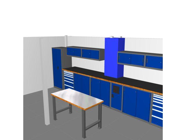 agencement d 39 atelier et de garage couleur bleu trm garage pro de trm garage informations et. Black Bedroom Furniture Sets. Home Design Ideas