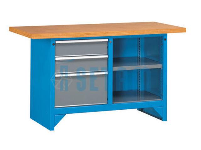 Etabli avec caisson 3 tiroirs 1m50 de setam rayonnage et for Assurance garage professionnel
