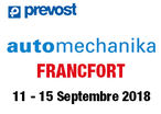 PREVOST : AUTOMECHANIKA Francfort 2018 - HALL 8 / STAND H32