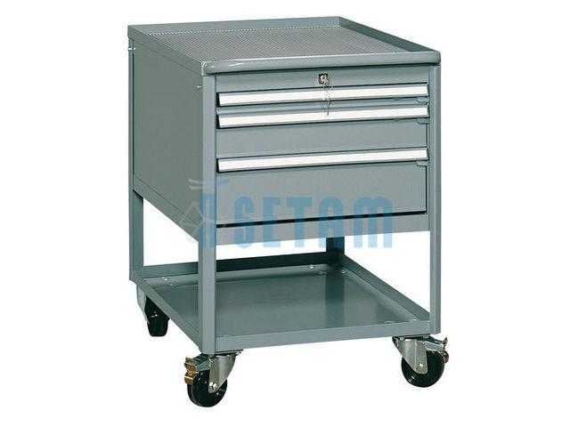 servante atelier industrielle 3 tiroirs de setam rayonnage et mobilier professionnel. Black Bedroom Furniture Sets. Home Design Ideas