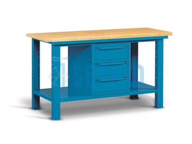 Etabli d 39 atelier avec plateau bois et 3 tiroirs 1m tre 50 for Assurance garage professionnel