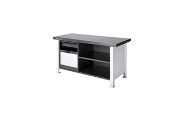etabli industriel en acier avec volet coulissant 285100. Black Bedroom Furniture Sets. Home Design Ideas