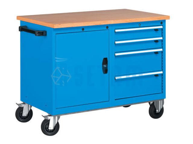 Etabli roulant pro avec porte et bloc 4 tiroirs de setam for Assurance garage professionnel
