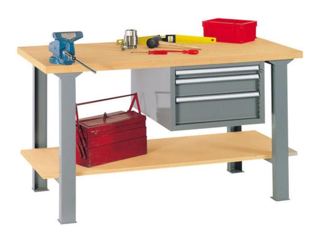 Etabli d atelier tag re inf rieure et bloc 3 tiroirs for Assurance garage professionnel