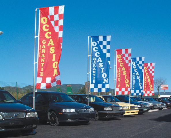 Mat drapeau gamme de apa france cr ateur de plv for Plv garage automobile