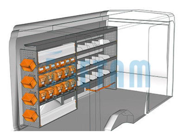 kit am nagement transit l3 m tallique c t conducteur de setam rayonnage et mobilier. Black Bedroom Furniture Sets. Home Design Ideas