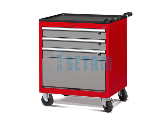 Servante atelier 3 tiroirs et porte basculante de setam for Assurance garage professionnel