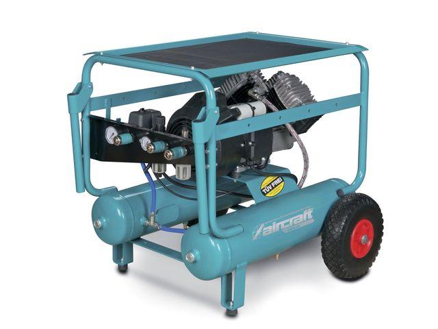 Compresseur de chantier mobile hos 10 bars 2x11 l for Compresseur garage automobile