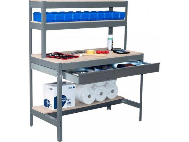 etabli atelier bois m tal avec tiroir de rangement de rangestock informations et. Black Bedroom Furniture Sets. Home Design Ideas