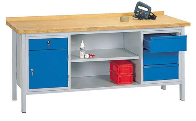 etabli m canicien avec 3 tiroirs et 2 tag res inf rieures. Black Bedroom Furniture Sets. Home Design Ideas